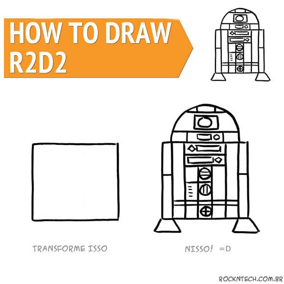 Aprenda a desenhar um R2-D2