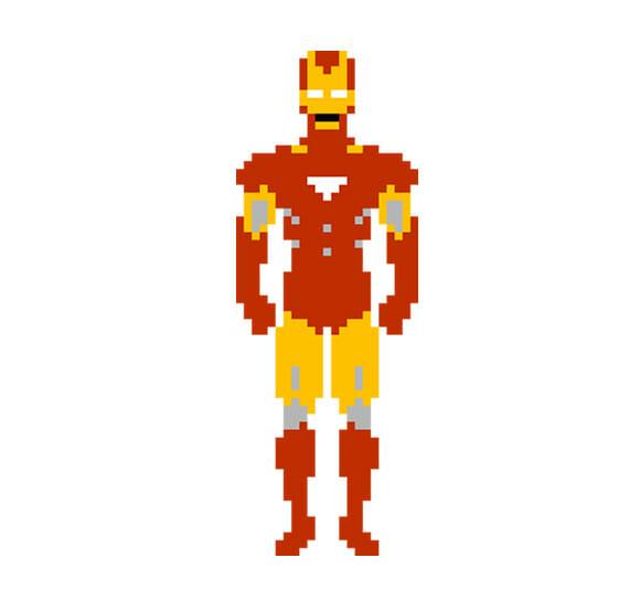 Os Vingadores em pixels!