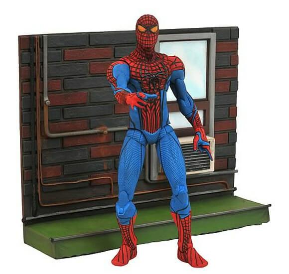 Action figure do Spider-Man oficial da Marvel baseado no filme Amazing Spider-Man