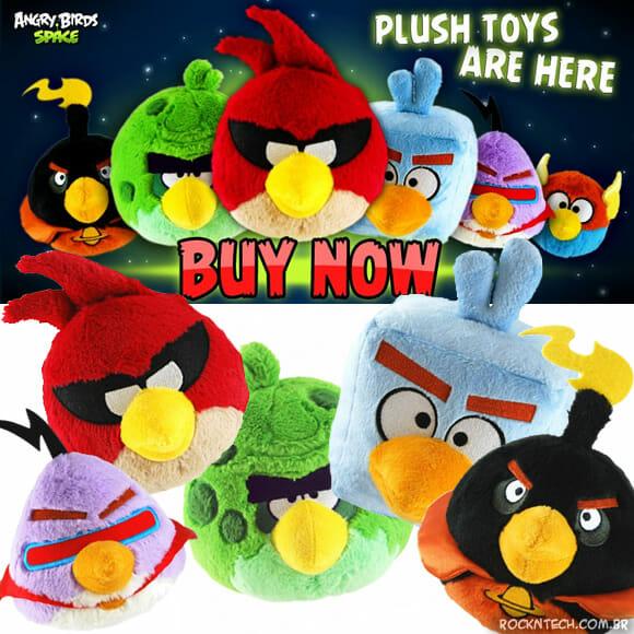Pelúcias do game Angry Birds Space oficiais da Rovio já estão à venda!