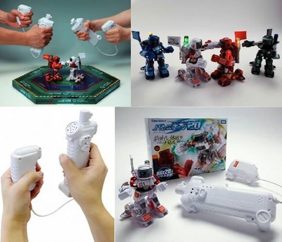 Robôs de brinquedo operados por controles com sensores de movimento. #EUQUERO! (vídeo)