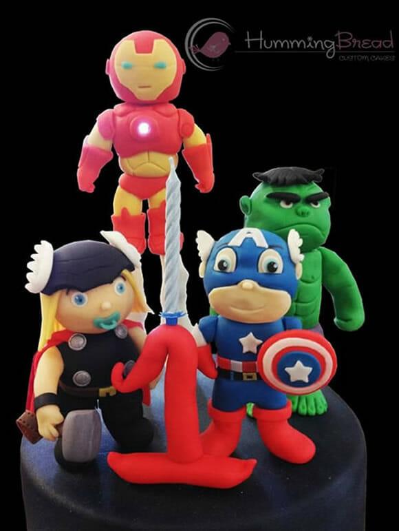 Bolo Baby Avengers