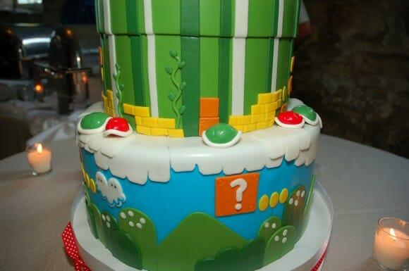 Bolo de casamento do Super Mario é simplesmente incrível!
