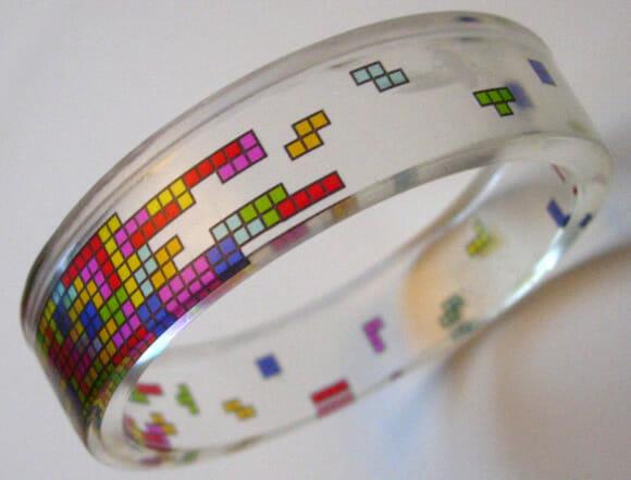 Moda geek: Bracelete Tetris