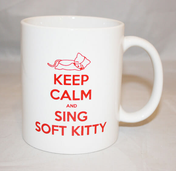 Caneca KEEP CALM and SING SOFT KITTY inspirada em Big Bang Theory