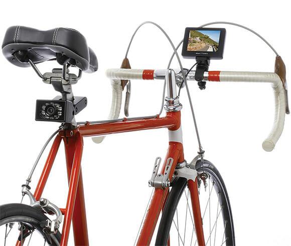 Kit câmera traseira e monitor pra bicicletas pode ajudar a prevenir acidentes