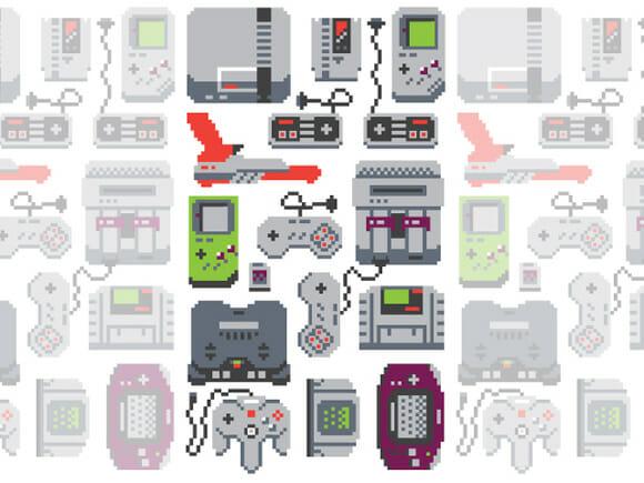 Moda geek: Camiseta com estampas de consoles antigos estilo 8-bits