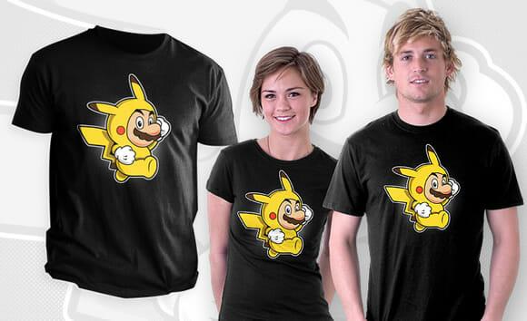 Moda geek: Camiseta Super Mario Pikachu