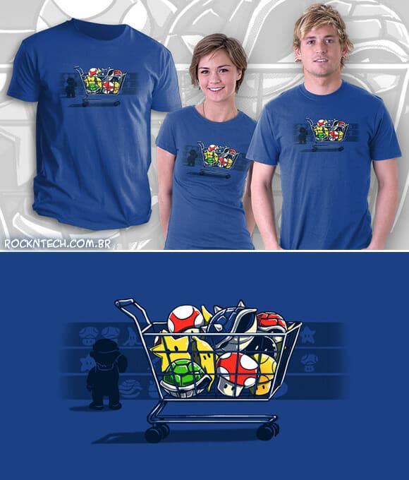 Camiseta AWESOME do dia: Shopping Cart com Super Mario