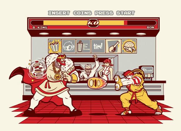 Camiseta Super Meat Fighter