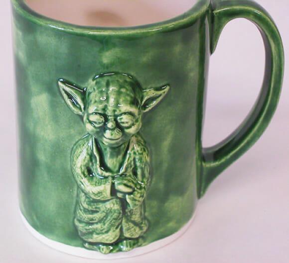 Caneca do Mestre Yoda para um café da manhã de Jedi