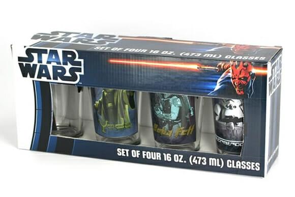 Copos do Star Wars para bebidas de Jedis
