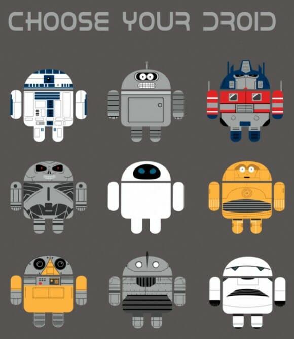 FOTOFUN - Android como outros robôs famosos