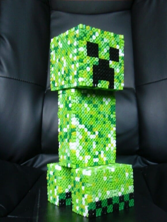 Estátua do Creeper do Minecraft de 19 cm de altura