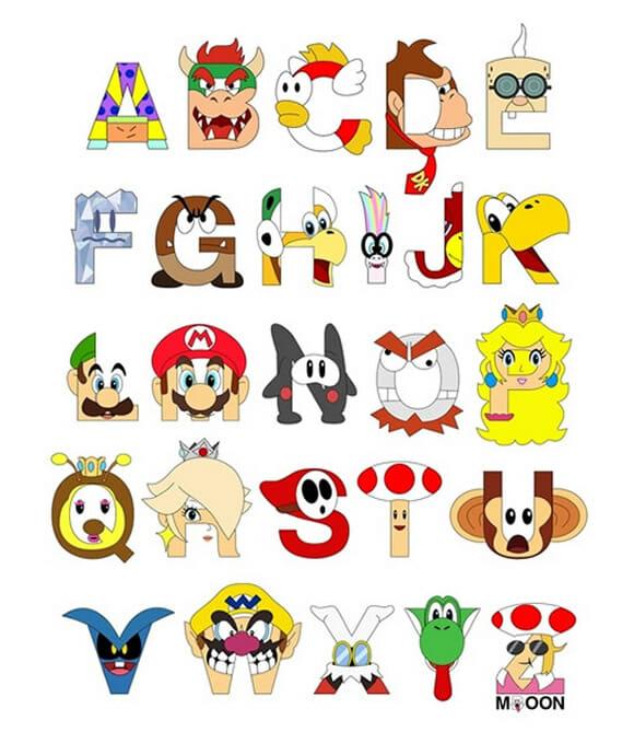 FOTOFUN - Alfabeto Super Mario