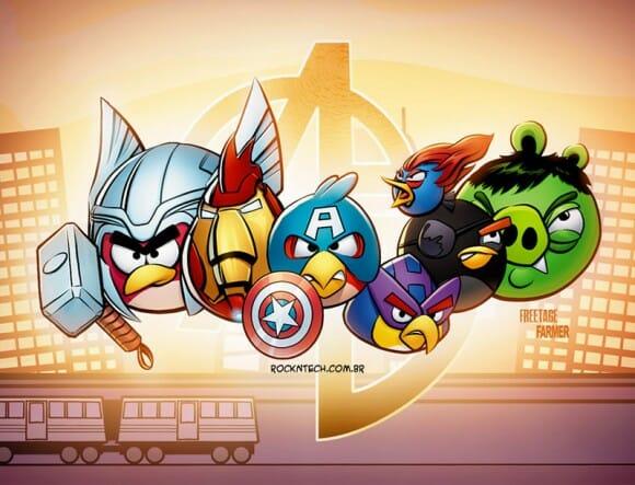 FOTOFUN - Angry Birds + Avengers = AngryVengers!