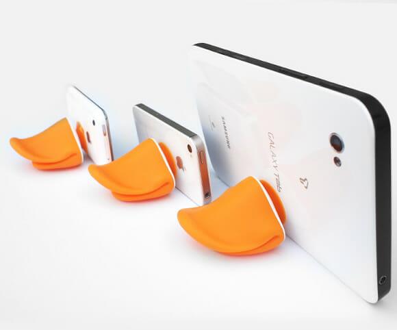 iDUCK - Suporte para smartphones em forma de bico de pato