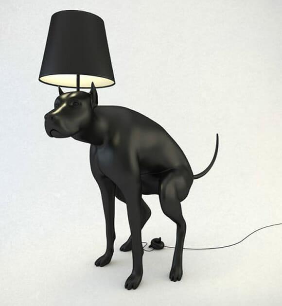 Luminárias criativas e inusitadas imitam cachorros