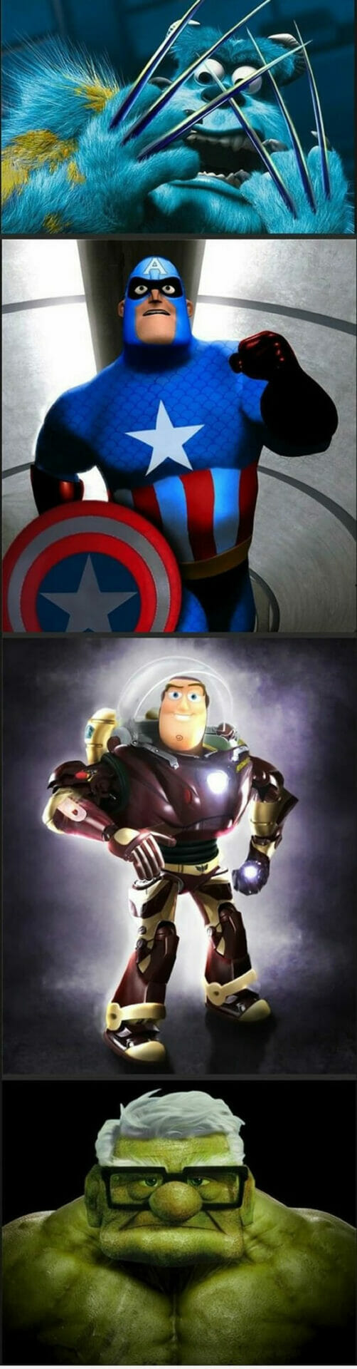 Isso é legal do dia: Mashup Pixar com Marvel