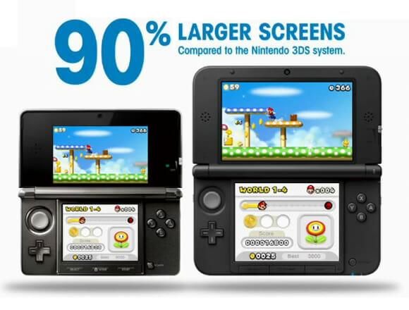Nintendo anuncia Nintendo 3DS XL com quase o dobro do tamanho da versão anterior (vídeo)