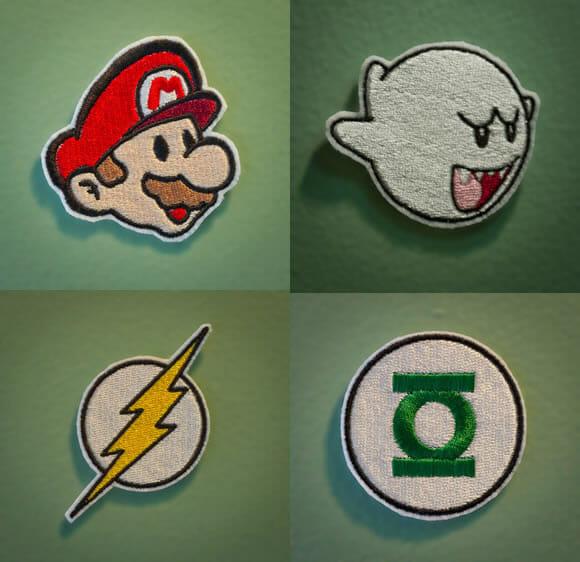 Emblemas geeks para colocar nas roupas, mochilas, bolsas e bonés