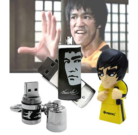 Linha de pen drives Bruce Lee. Wááááááááá!!!
