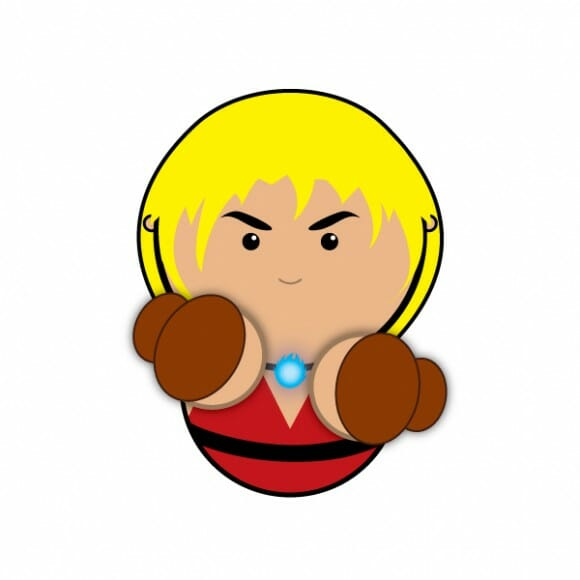 Personagens minimalistas do Street Fighter