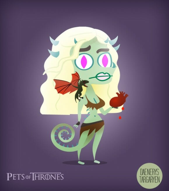 Pets of Thrones - Personagens de Game of Thrones como animais