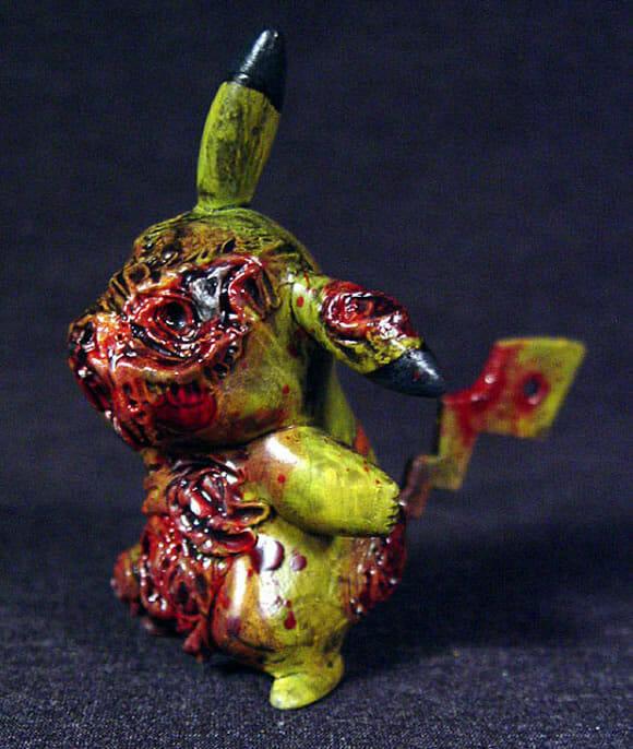 Escultura do Pikachu Zumbi