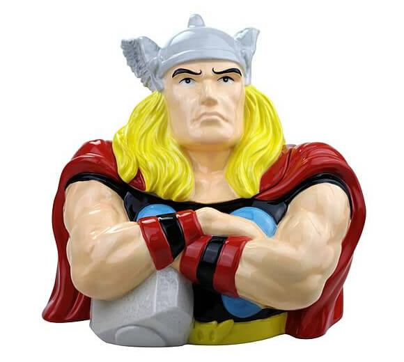 Potes de biscoito do Hulk, Capitão América e Thor