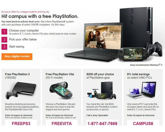 Sony lança promoção nos EUA: Compre um Notebook Vaio e ganhe um PS3 ou PS Vita