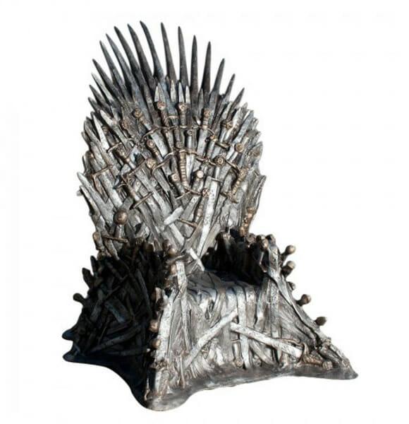 HBO coloca à venda réplicas oficiais do Trono de Ferro da série Game of Thrones