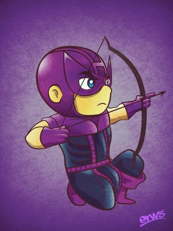 Versões infantis de super-heróis