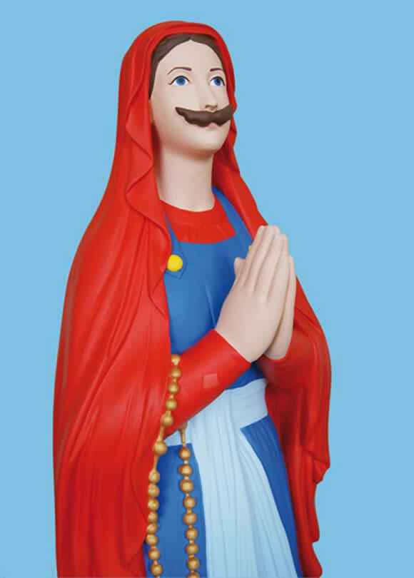 Artista cria imagem da Virgem Maria versão Super Mario