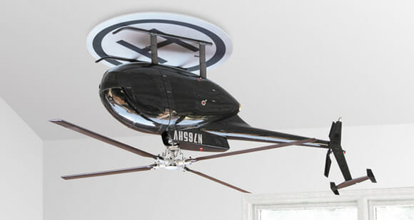 Decoração maluca: Ventilador de teto em forma de Helicóptero