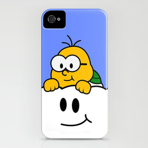 Capas para iPhone com desenhos minimalistas dos personagens do Super Mario