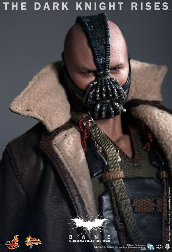 Novo action figure Hot Toys do vilão Bane do filme Batman - O Cavaleiro das Trevas Ressurge