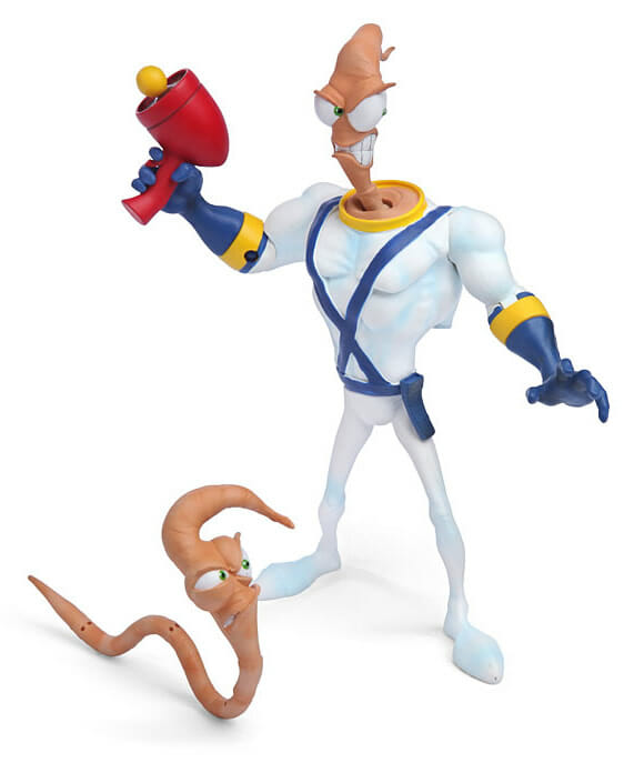 Action Figure do Earthworm Jim. Groooovie!