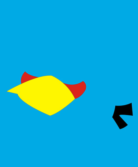 Angry Birds minimalista