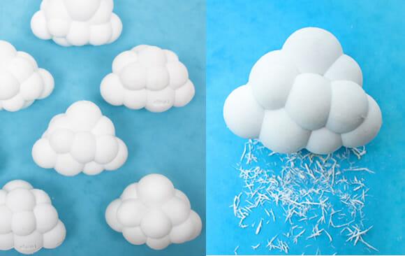 Cloud erasers - Borrachas escolares em forma de nuvens