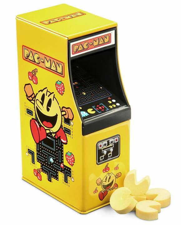 Balas do Pac-Man vêm em embalagem em forma de máquina de fliperama