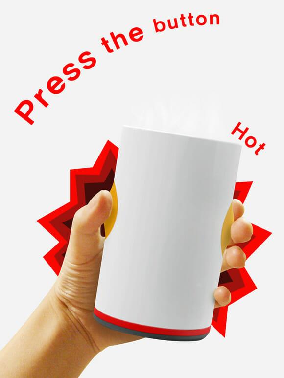 """Copo Burning Cup aquece sua bebida como """"mágica"""" em dias de frio"""