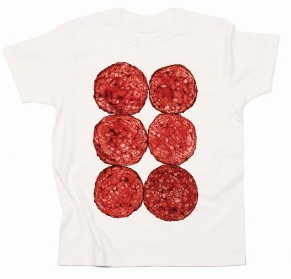 Camisetas para fãs de bacon e carnívoros em geral