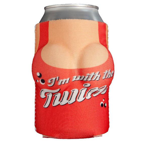 Camisinha para cerveja em forma de mamilos!
