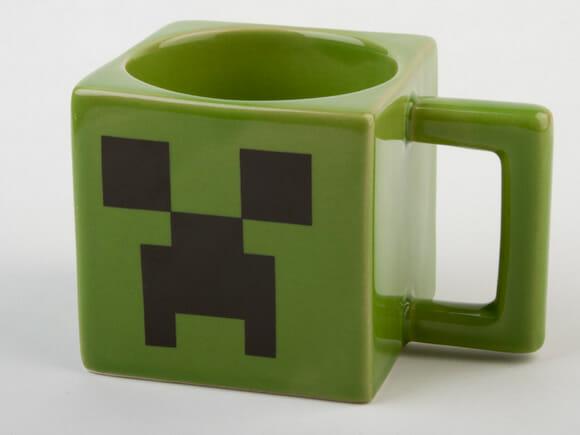 Caneca imita o Creeper de Minecraft