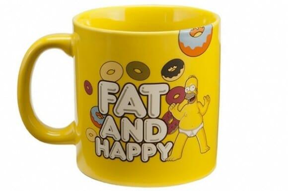 Caneca Homer Simpson: Gordo e feliz =)