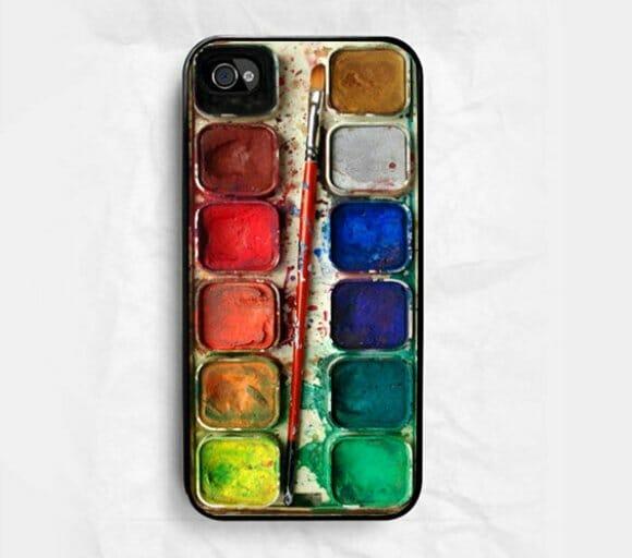 Capa para iPhone imita uma aquarela