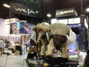 Comic Con - Prévia de um stand do evento de 2012