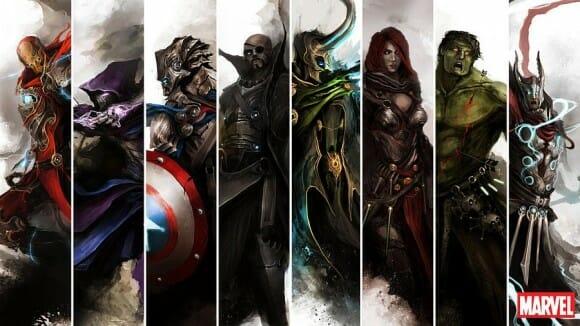 Ilustrações espetaculares transformam heróis de Os Vingadores em personagens Épicos
