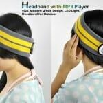 Praticidade para mulheres: Faixa de cabelo com MP3 e fones integrados